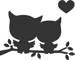 DECOR STICKER LOVE OWL