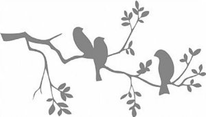 DECOR STICKER BIRDS