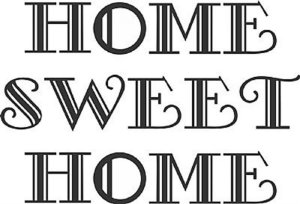 DECOR STICKER HOME SWEET HOME