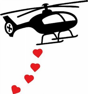 DECOR STICKER HELLACOPTER LOVE