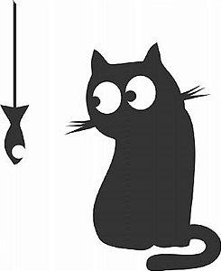 DECOR STICKER CAT AND FISH