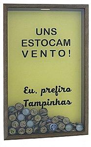 QUADRO PORTA-TAMPINHAS 32X52CM