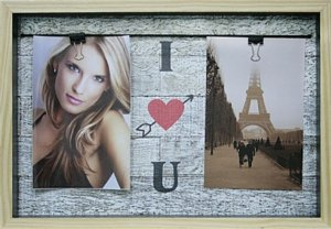 PAINEL FOTOGRÁFICO VARAL I LOVE YOU