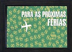 COFRE 15X20CM PARA AS PRÓXIMAS FÉRIAS - PRETO