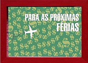 COFRE 15X20CM  PARA AS PRÓXIMAS FÉRIAS - VERMELHO