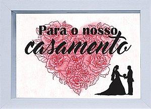 COFRE 15X20CM PARA O NOSSO CASAMENTO -  BRANCO