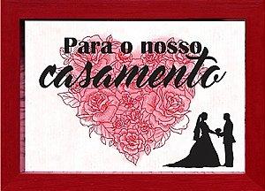 COFRE 15x20CM PARA O NOSSO CASAMENTO - VERMELHO