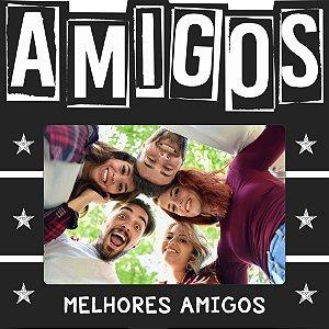 PORTA-RETRATOS DE MESA AMIGOS, 20X20CM P/ 1 FOTO 10X15CM