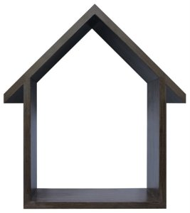 NICHO NATURAL COM TELHADO HOME SWEET HOME 23X33CM