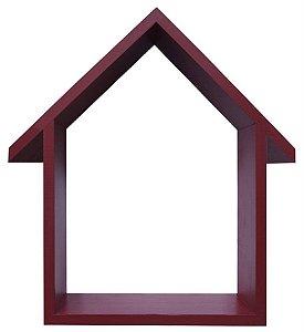 NICHO VERMELHO COM TELHADO HOME SWEET HOME 33X48CM
