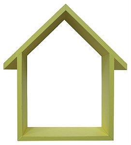 NICHO AMARELO COM TELHADO HOME SWEET HOME 33X48CM