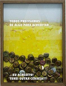 QUADRO PORTA-TAMPINHAS TODOS PRECISAMOS 32X42CM