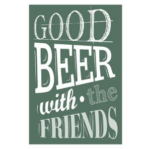 PLACA GOOD BEER 20X30CM