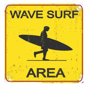 PLACA WAVE SURF 25X25CM
