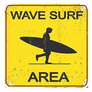 PLACA WAVE SURF 25X25CM