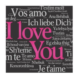 PLACA I LOVE YOU 25X25CM