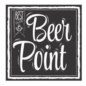 PLACA BEER POINT 25X25CM