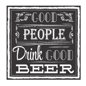 PLACA PEOPLE BEER 25X25CM