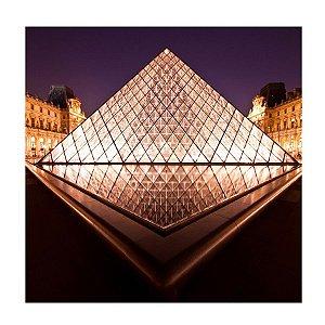 PLACA MUSEU PARIS 25X25CM