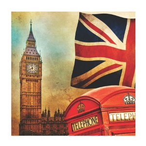 PLACA LONDON 25X25CM