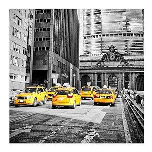 PLACA NEW YORK TÁXI 25X25CM
