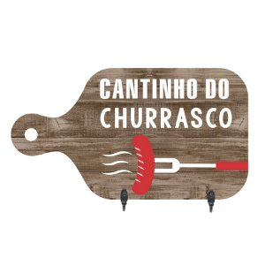 PORTA-CHAVES CANTINHO DO CHURRASCO 15,5X28CM