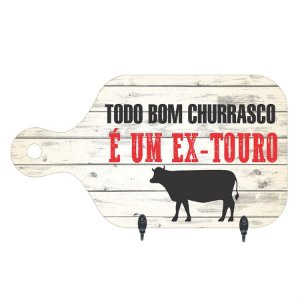PORTA-CHAVES TODO BOM CHURRASCO 15,5X28CM
