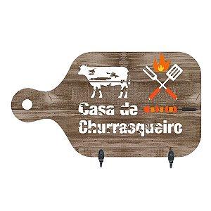 PORTA-CHAVES CASA DE CHURRASQUEIRO 15,5X28CM