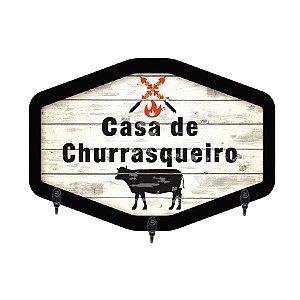 PORTA-CHAVES CASA DE CHURRASQUEIRO 20X28CM