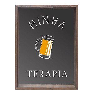 QUADRO PORTA-TAMPINHAS MINHA TERAPIA 32X42CM