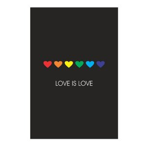 PLACA LOVE IS LOVE 20X30CM