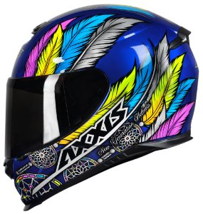 CAPACETE AXXIS EAGLE DREAMS GLOSS BLUE/GREY