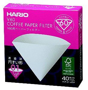 Filtro de Papel para Hario V60-01 - 40 Unidades