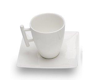 Kit 6 xícaras cappuccino com pires 200ML