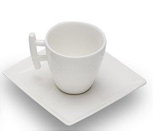 Kit 6 xícaras espresso com pires 80 ML