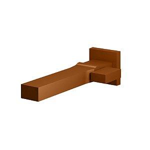 Torneira Banheiro de Parede Quadrada Rosso Vecchio 1199 RV450 Horus Fani