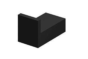 Cabide Porta toalha gancho Quadrado Preto Fosco 4600 Bk450 Horus Fani