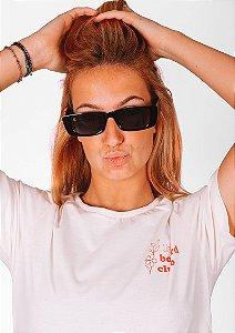 Óculos de sol loveboard retangular preto