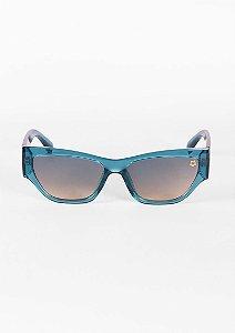 Óculos de sol gatinho moderno azul