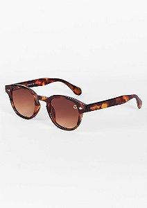 Óculos de sol clássico retrô tartaruga