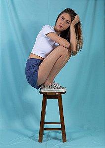 Shorts moletom azul
