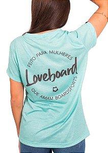 Blusa babylook azul loveboard