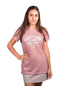 Blusa babylook rosa céu mar eco