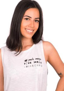 Regata cropped branca viva mais