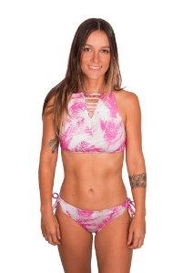 Biquíni boardsport estampado tropical vibes