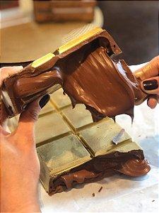 Barra Golden Dream 1kg ao leite com recheio de Nutella