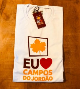 Camiseta EU AMO CAMPOS DO JORDÃO