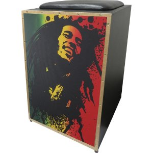 Cajon Acústico Inclinado Profissional K2 COR-002 Bob Marley