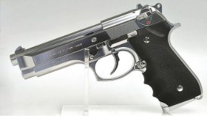 Pistola Airsoft M92F Chrome GBB 6mm - Tokyo Marui
