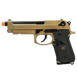 Pistola Airsoft M9A1 Tan WE GBB 6mm - Full Metal